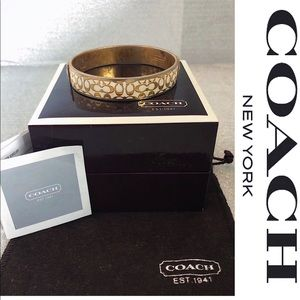 Coach Gold and White Bangle.